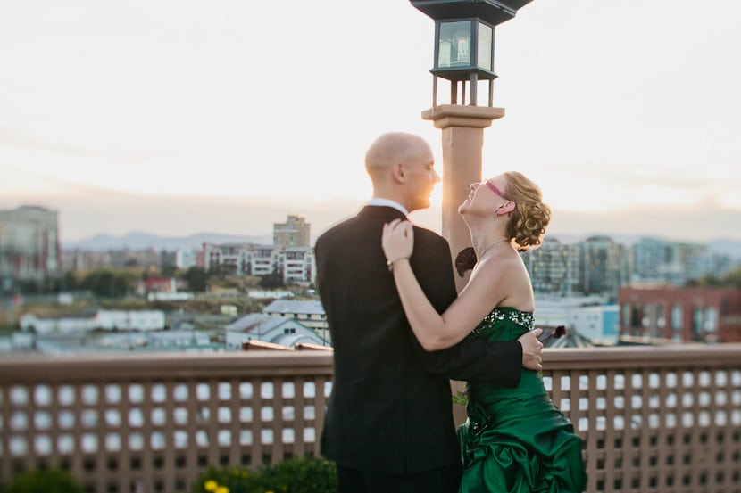 tilt shift first dance on rooftop in victoria bc